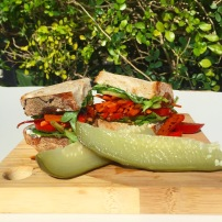 Fresh Vegetable Balsamic Sourdough Sandwich