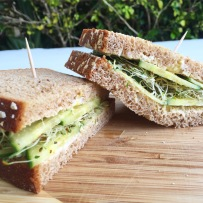 Sprouted Cucumber Sandwich