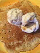 Vanilla Pancakes with Coconut Vanilla Ice Cream
