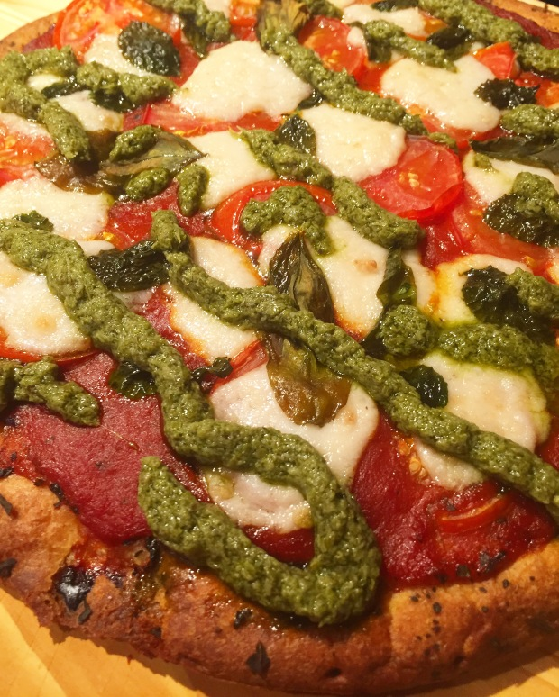 Margarita Pesto with Miyoko's Kitchen Mozz